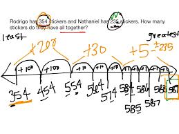 Number Line Subtraction Worksheets Showme 3 Digit Addition Open Number Line