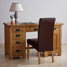 Solid Oak Office Desk Original Rustic Solid Oak Office Desk Office Desks Living Room