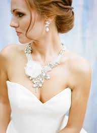 wedding dress necklace how to choose your wedding jewelry dress shapes strapless gown