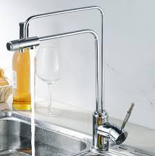 european modern style brass marble kitchen faucet three 3 way