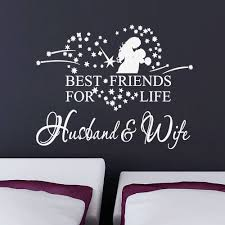 Wall Art Quotes Stickers Aliexpress Com Buy Wife Husband Wedding Decal Bedroom Wall