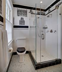 Black And White Bathroom Decor by Toilet Seat Riser In Bathroom Traditional With Modern Art Deco
