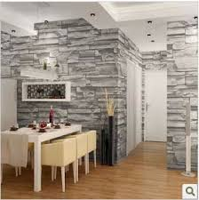 Wallpaper Designs For Dining Room Style Dining Room 3d Wallpaper Brick Design