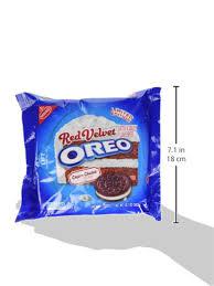 Amazon Com Oreo Red Velvet Sandwich Cookies 10 7 Ounce