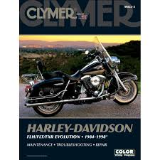 amazon com clymer repair manual for harley flh flt fxr 84 98