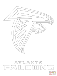 atlanta falcons logo coloring page free printable coloring pages
