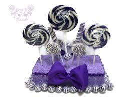 purple lollipop centerpiece violet candy centerpiece purple