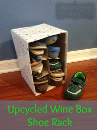 Just Home Decor Coupon Code Diy Upcycled Wine Box Shoe Rack Outnumbered 3 To 1