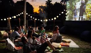 Backyard Projector Backyard Movie Party Rentals Outdoor Furniture Design And Ideas