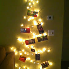 string lights on your wall in the shape of a tree and hang