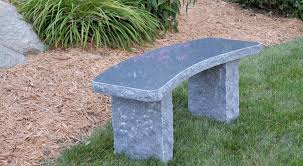 curved charcoal bench stone age creations ltd