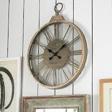 nostalgic wall clock wisteria