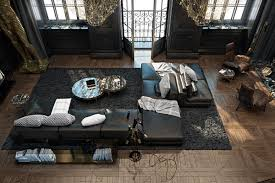 Home Design 3d Gold Windows 3 Living Spaces With Dark And Decadent Black Interiors