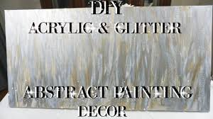 diy acrylic and glitter abstract painting wall art decor