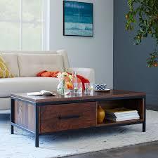 Wood And Metal End Table Metal Wood Coffee Table West Elm