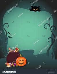 trick or treat halloween background abstract halloween trick treat poster flyer stock illustration