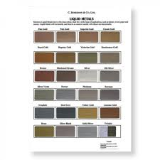 roberson liquid metal colour chart imitation gold paint and