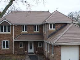 brown brindle brown plain clay roof tiles