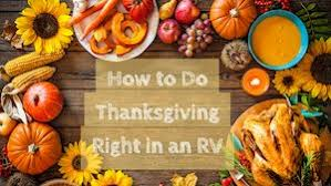 how to do thanksgiving right in an rv