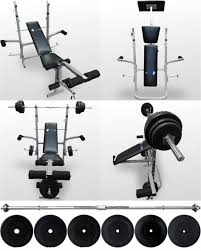 bench barbell and bench set full home gym adjustable bench press