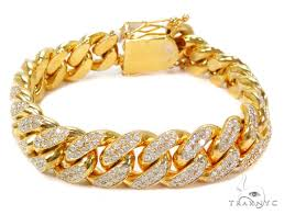 cuban bracelet images Miami cuban diamond bracelet 40711 mens diamond bracelet yellow jpg