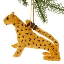 jaguar felt holiday ornament handmade and fair trade the village