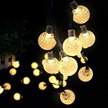 Amazon Uk Outdoor Christmas Decorations by Solar Outdoor String Lights Ascher 30 Led Fairy Light Warm White