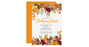 modern thanksgiving dinner invitations announcements zazzle