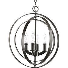 lowes bronze light fixtures shop progress lighting equinox 4 light antique bronze chandelier at