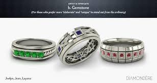 gemstones wedding rings images Men 39 s wedding bands de mystified jpg