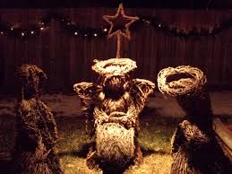 nativity scene made from wicker picture free photograph photos