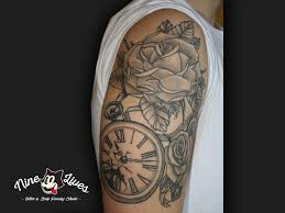100 pocket watch and rose tattoo pocket watch tattoo with