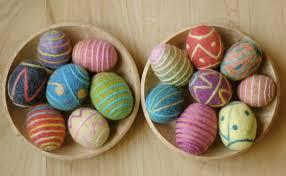 felted easter eggs http waldorfmama typepad a