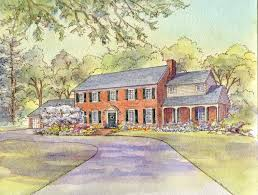 Exterior Painting Alexandria Va - house portraits large homes and gardens leisa collins art