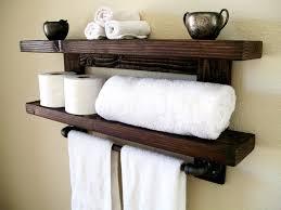 Oil Rubbed Bronze Bathroom Shelves by Towel Shelf With Bar Nujits Com