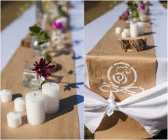 industrial style wedding paper table kraft paper and wedding