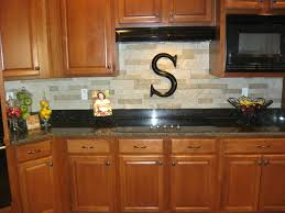 Rock Kitchen Backsplash by Decorating Wooden Kitchen Cabinet With Oven And Countertop Plus