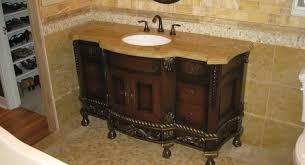 sink interior light brown marble vanity top mixed dark varnished