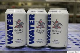 busch light aluminum bottles anheuser busch stops brewing beer to produce cans of water for flood