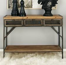 wood and iron sofa table cole grey wood metal console table reviews wayfair