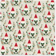 discount christmas wrapping paper santa gnomes christmas wrapping paper roll 45 sq ft wrapping