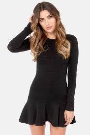 sleeved black dress black dress sleeve dress mini dress 68 00