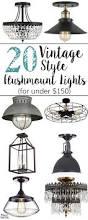 Flush Mount Chandeliers 20 Vintage Inspired Flush Mount Lights On A Budget