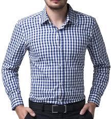 paul jones s shirt casual slim fit plaid dress shirts for