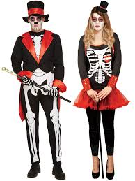 mens skeleton magician costume all halloween fancy dress hub