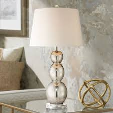 Mercury Glass Table L Lighting Great Ribbed Mercury Glass Small Bedside Table L Image