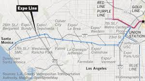 Metro La Map Why The Expo Line To Santa Monica Marks A Rare Kind Of Progress In