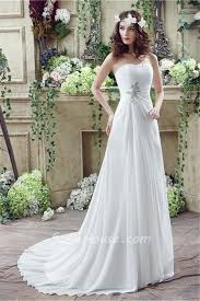 garden wedding dresses a line strapless corset back chiffon draped destination garden
