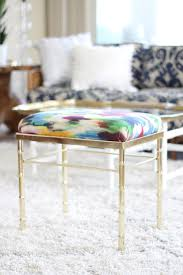 Safavieh Georgia Vanity Stool Gold Vanity Stool Backless Vanity Stool Bench Seat With Brass