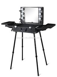 Makeup Artist Light Make Up Case Small Table With Led Light And Mirror Db9660k